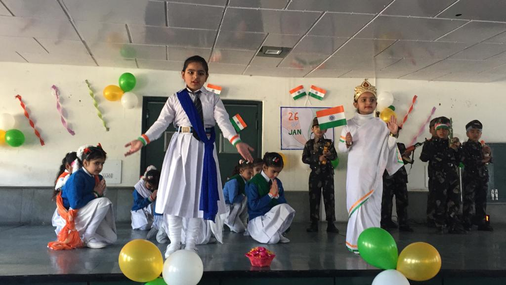 Kindergarten celebrating Republic Day